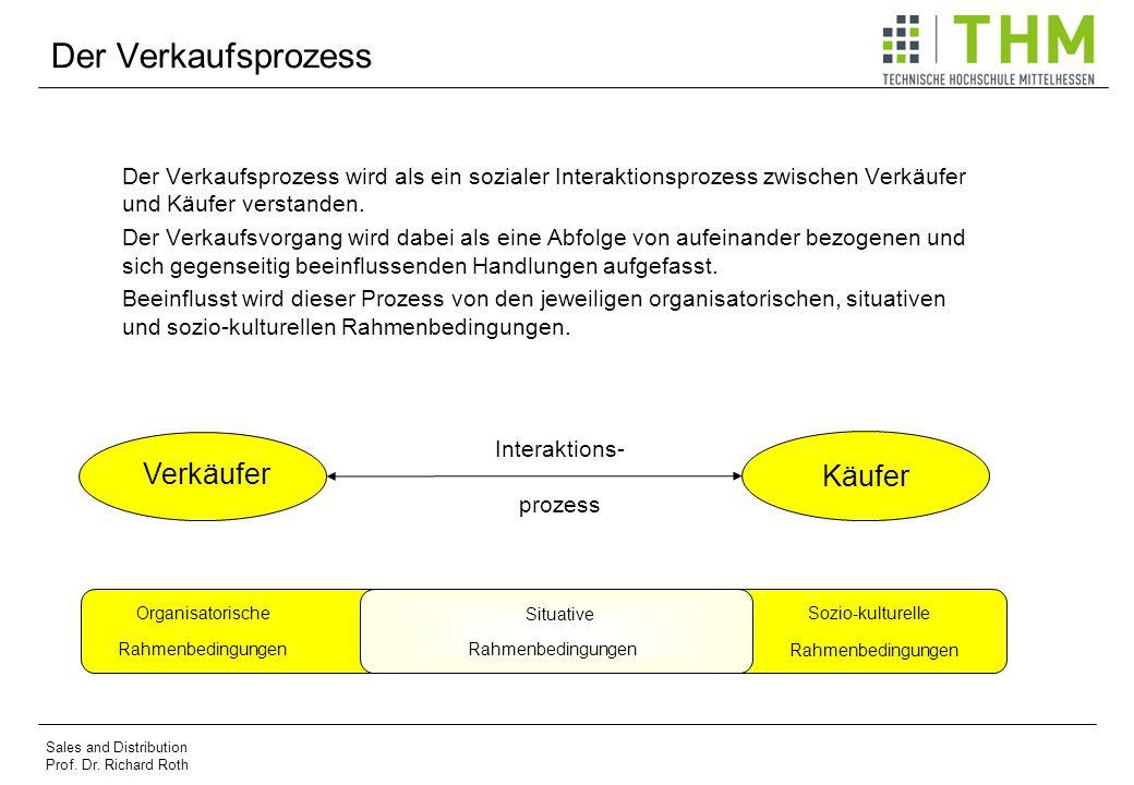 Der Verkaufsprozess Der Verkaufsprozess wird als ein sozialer Interaktionsprozess zwischen Verkäufer und Käufer verstanden. Der Verkaufsvorgang wird d