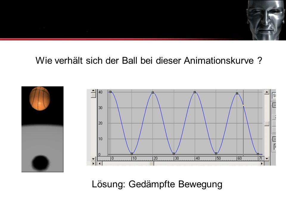 Animationskurven Wie verhält sich der Ball bei dieser Animationskurve ? Lösung: Gedämpfte Bewegung