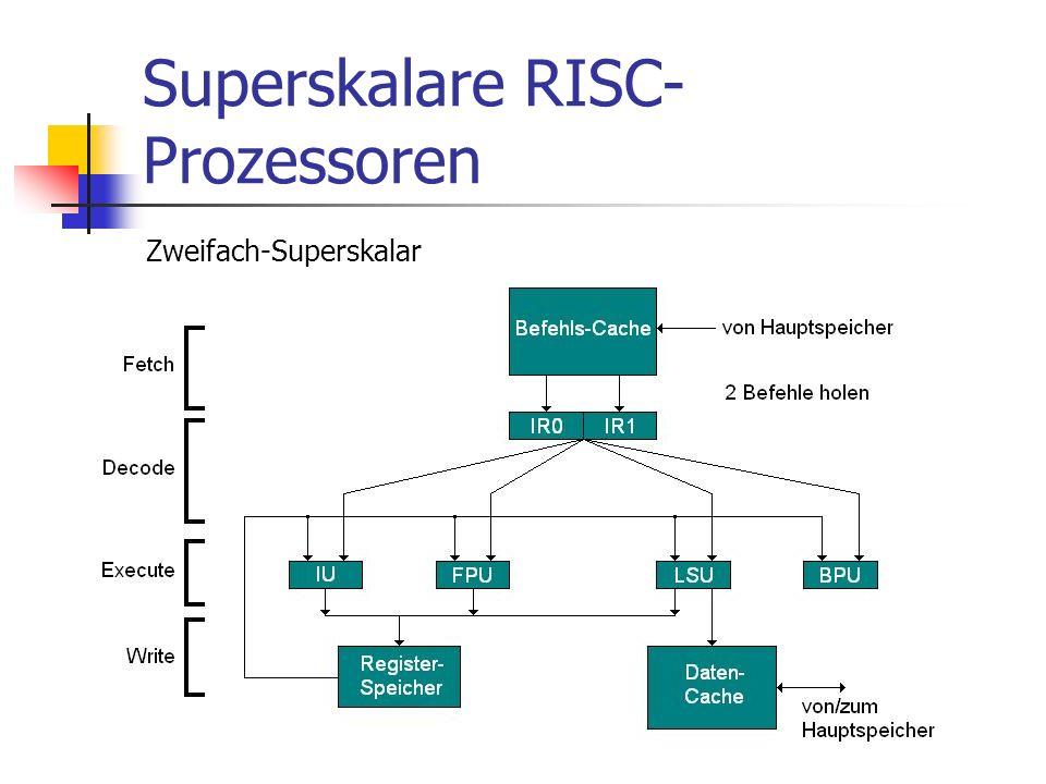 Superskalare RISC- Prozessoren Zweifach-Superskalar