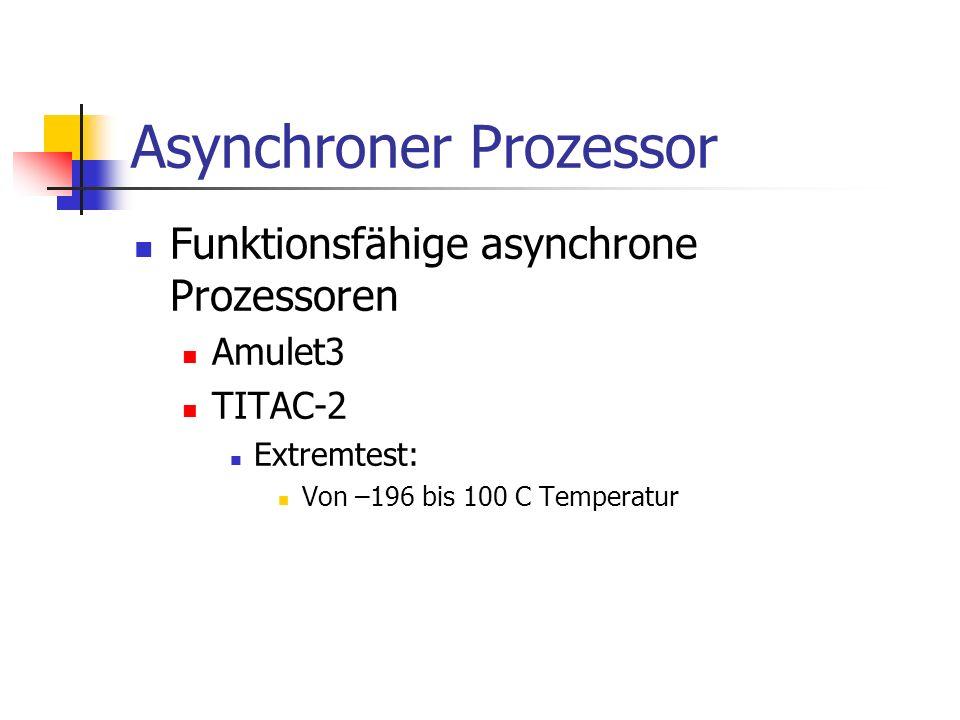 Asynchroner Prozessor Funktionsfähige asynchrone Prozessoren Amulet3 TITAC-2 Extremtest: Von –196 bis 100 C Temperatur