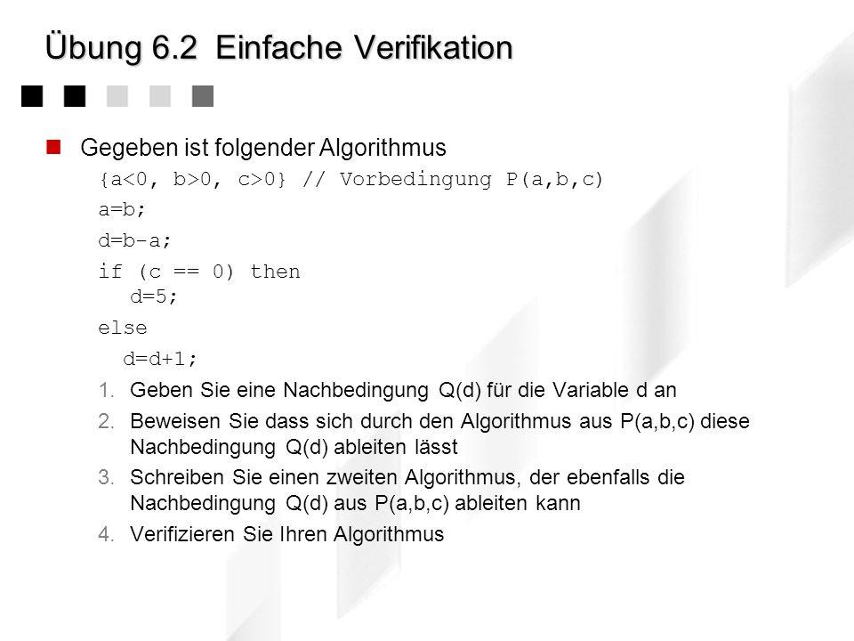 Übung 6.1Turing-Maschine 1.Machen Sie sich mit der Funktionsweise des Busy Beaver- Programms vertraut Vollziehen sie die 11 Schritte der ersten Turing