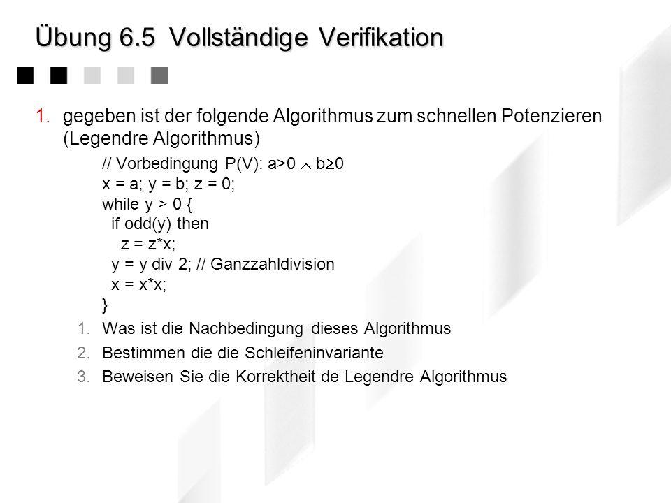 Übung 6.4Invariante 1.Betrachten Sie nochmals das Verfahren aus der vorgegangenen Übung: In einem Topf seien s schwarze und w weiße Kugeln - insgesamt