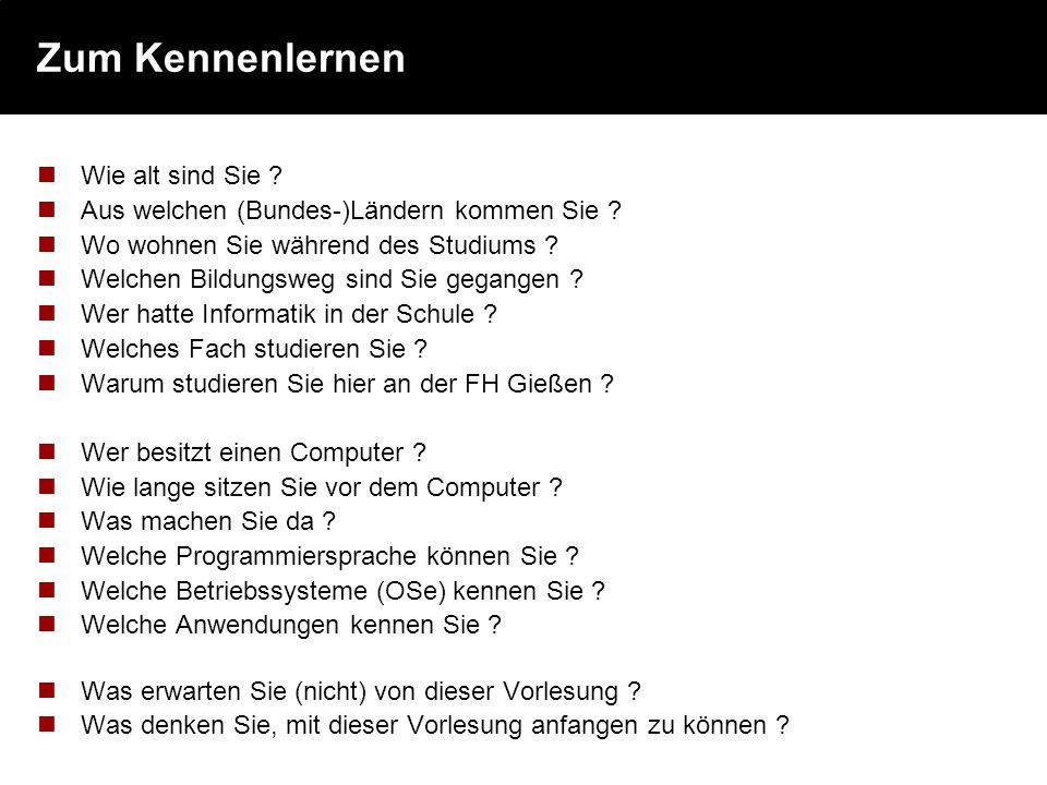 Grundlagen der Informatik Prof. Dr. Peter Kneisel