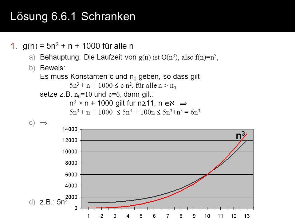 Lösung 6.5Vollständige Verifikation // Vorbedingung P(V): a>0 b 0 x = a; y = b; z = 1; // x=a y=b z=1 x>0 b 0 { INV: z x y =a b y 0 } while y > 0 { {I
