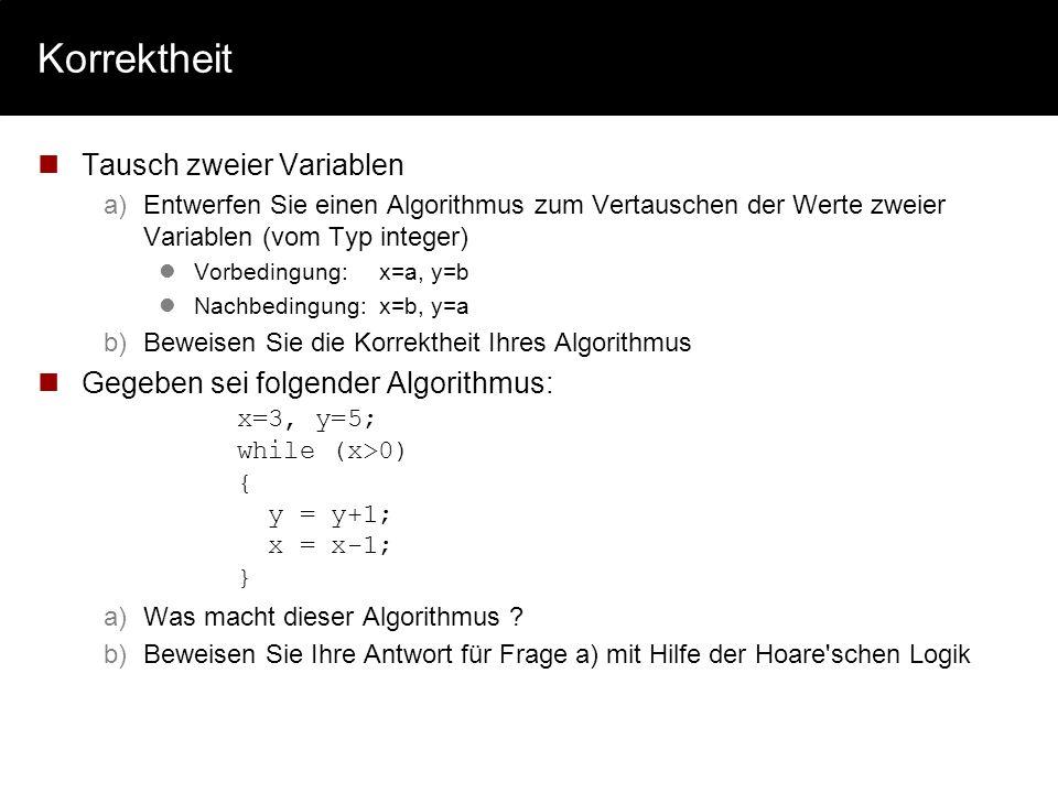 Berechenbarkeit Beweisen Sie mit Hilfe einer Turing-Maschine, dass f: N N mit: f(x) ist Binärkomplement von x berechenbar ist. a)Geben Sie dabei an: A