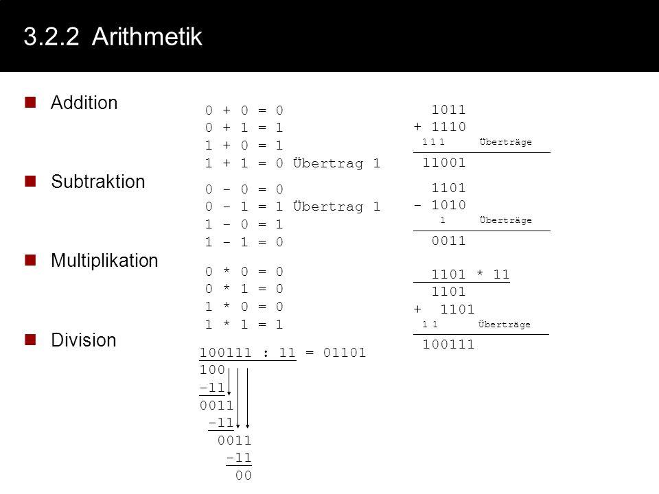 3.2.2Konvertierung: Restwertmethode Erzeugen des Hornerschemas (Ausklammern der Basis b) c 0 = a n b n + a n-1 b n-1 +... + a 2 b 2 +a 1 b 1 + a 0 b 0