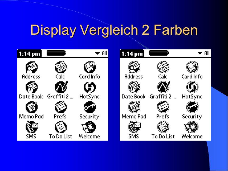 Display Vergleich 2 Farben
