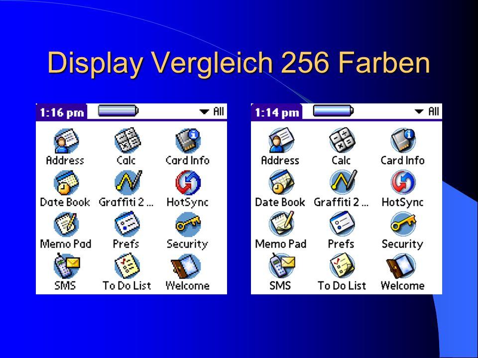 Display Vergleich 256 Farben