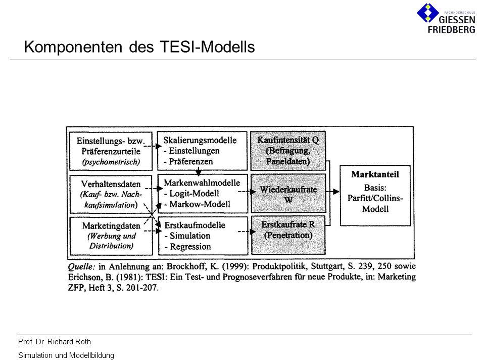 Prof. Dr. Richard Roth Simulation und Modellbildung Komponenten des TESI-Modells
