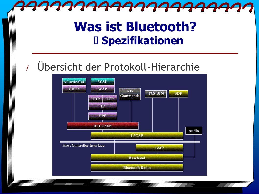 Was ist Bluetooth? Spezifikationen / Übersicht der Protokoll-Hierarchie
