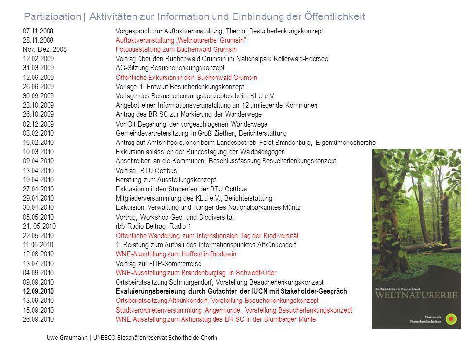 Uwe Graumann | UNESCO-Biosphärenreservat Schorfheide-Chorin Partizipation | Aktivitäten zur Information und Einbindung der Öffentlichkeit 07.11.2008Vo