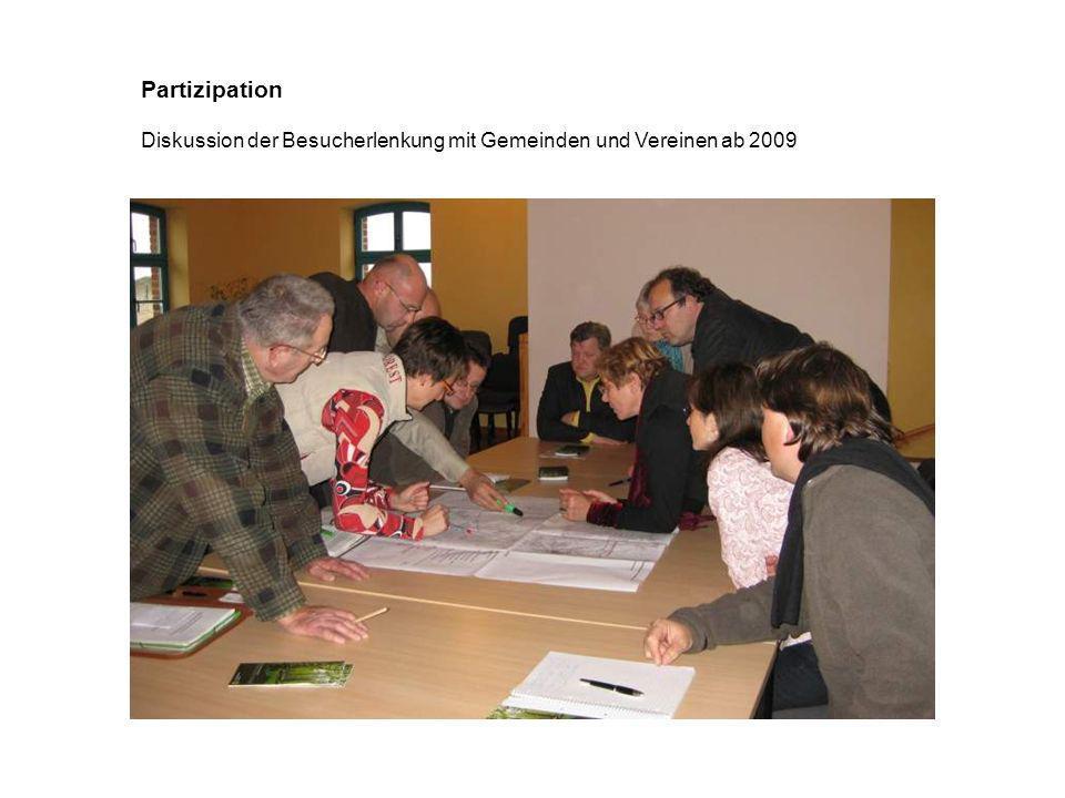 Partizipation Diskussion der Besucherlenkung mit Gemeinden und Vereinen ab 2009