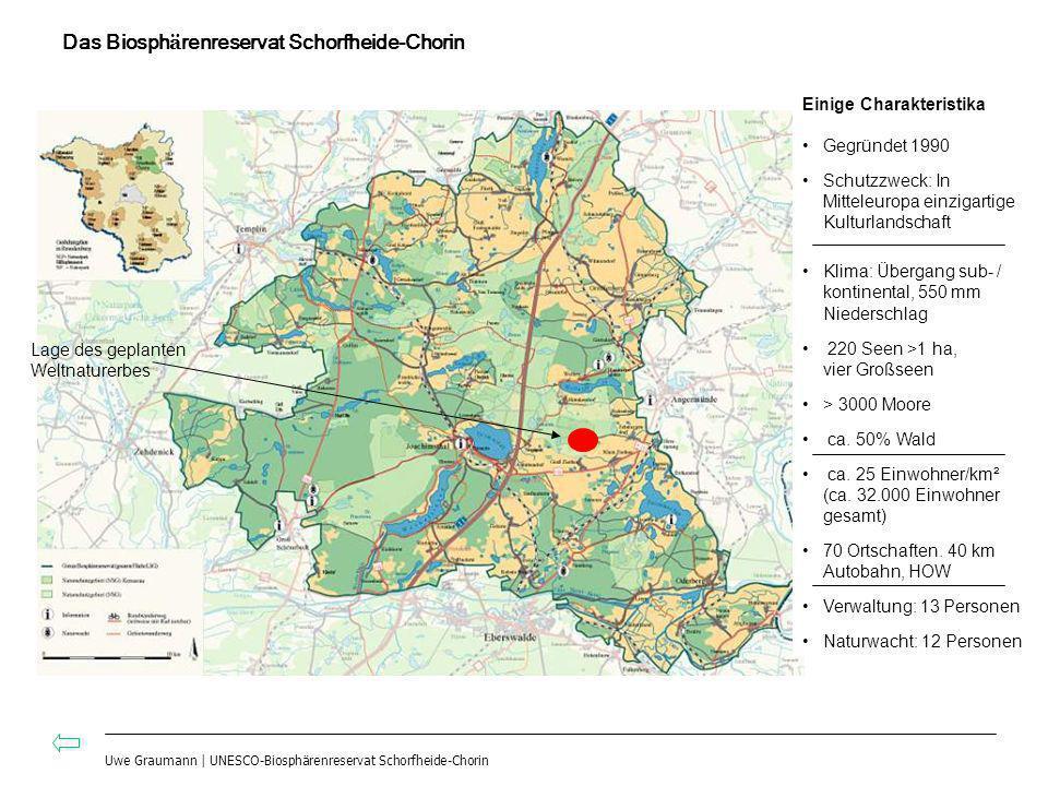 Das Biosph ä renreservat Schorfheide-Chorin Einige Charakteristika Gegründet 1990 Schutzzweck: In Mitteleuropa einzigartige Kulturlandschaft Klima: Üb