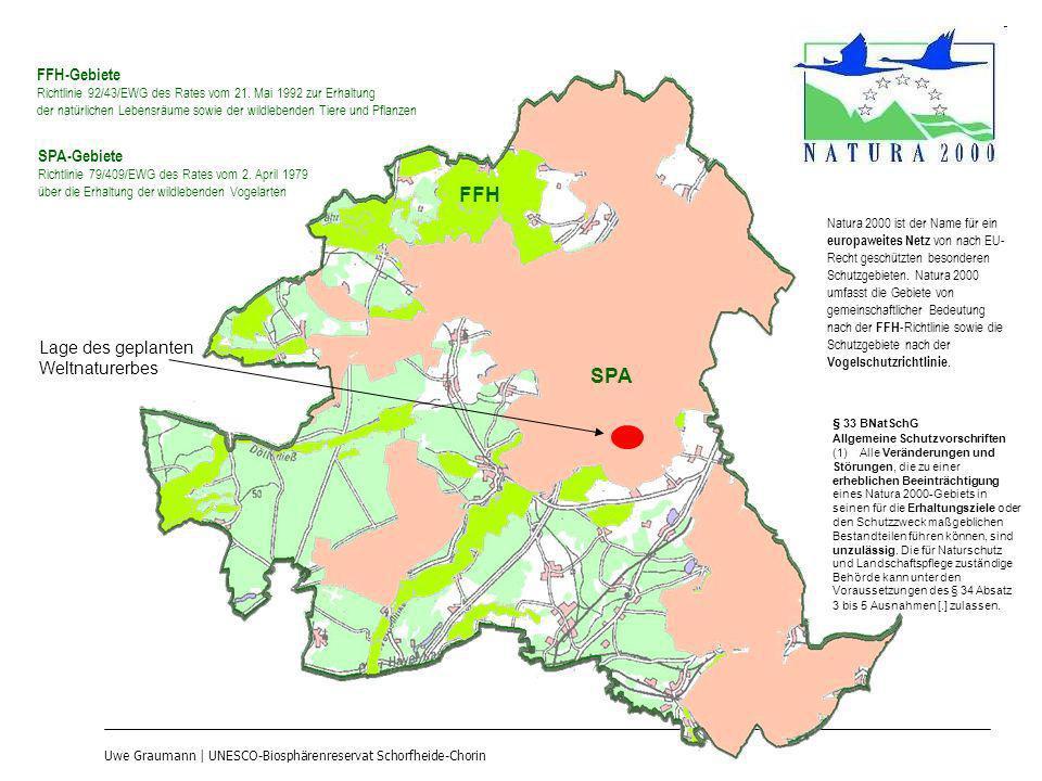 Uwe Graumann | UNESCO-Biosphärenreservat Schorfheide-Chorin FFH-Gebiete Richtlinie 92/43/EWG des Rates vom 21. Mai 1992 zur Erhaltung der natürlichen