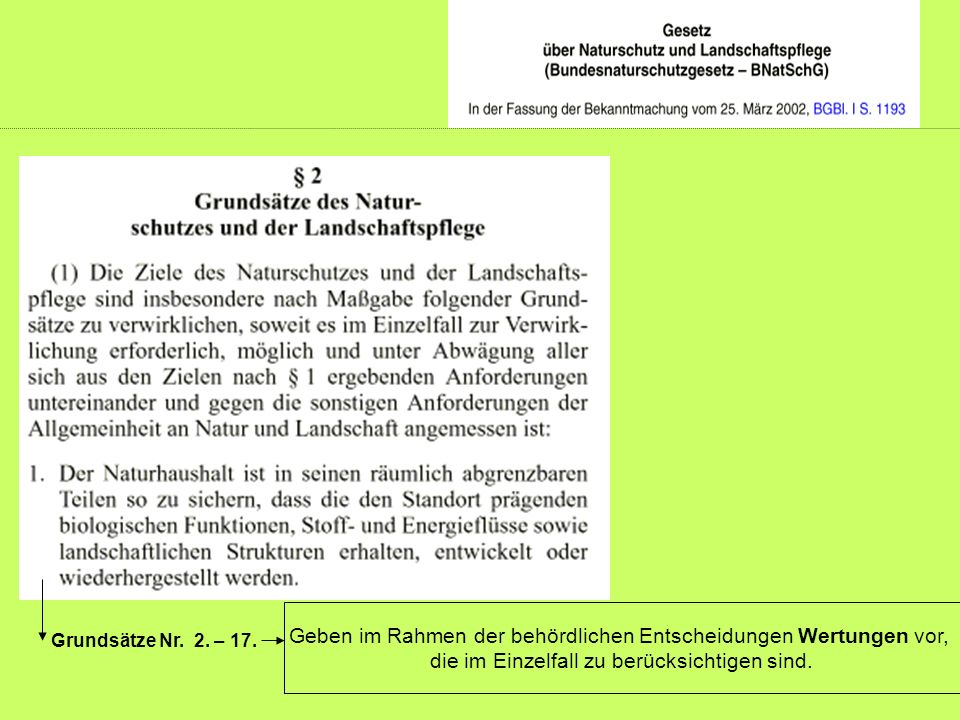 Grundsätze Nr.2. – 17.