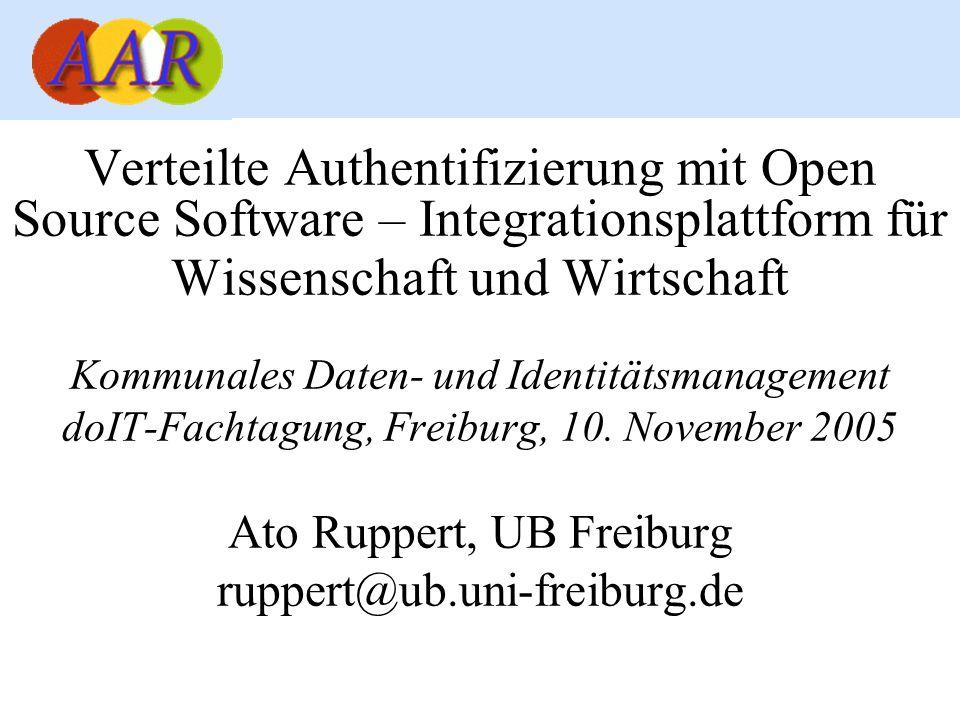 Verteilte Authentifizierung mit Open Source Software – Integrationsplattform für Wissenschaft und Wirtschaft Kommunales Daten- und Identitätsmanagemen