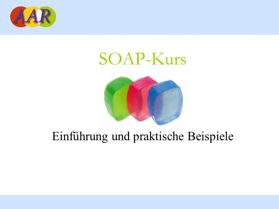 Franck Borel - UB-Freiburg 2 Ziele des SOAP-Kurses Grundbegriffe verstehen: Web-Services, SOA, WDSL, UDDI, usw.