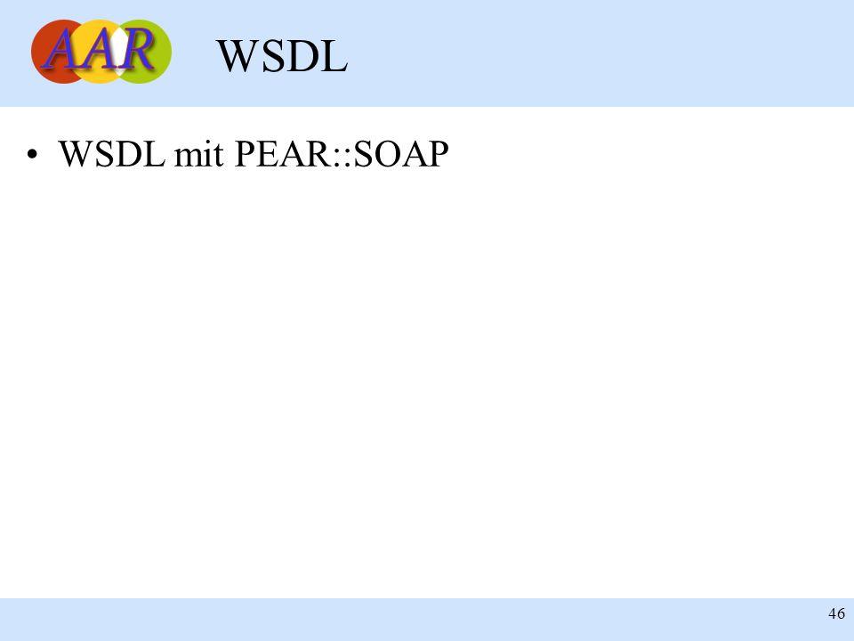 Franck Borel - UB-Freiburg 46 WSDL WSDL mit PEAR::SOAP