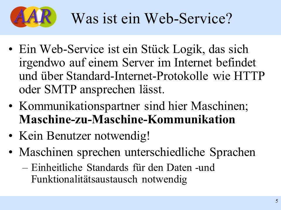 Franck Borel - UB-Freiburg 5 Was ist ein Web-Service? Ein Web-Service ist ein Stück Logik, das sich irgendwo auf einem Server im Internet befindet und