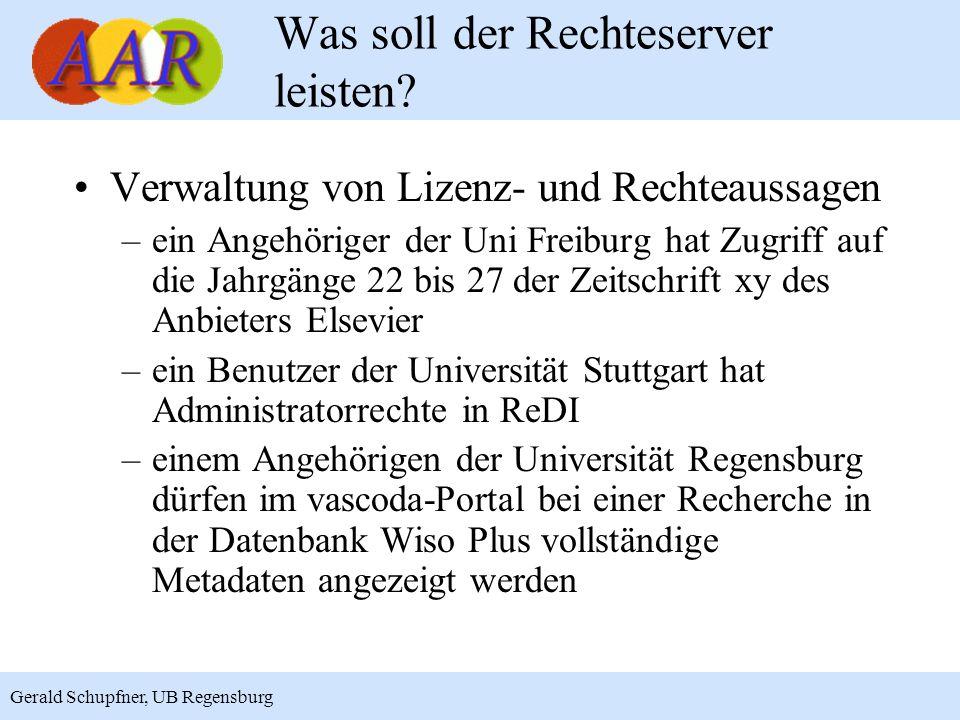 2 Was soll der Rechteserver leisten? Verwaltung von Lizenz- und Rechteaussagen –ein Angehöriger der Uni Freiburg hat Zugriff auf die Jahrgänge 22 bis