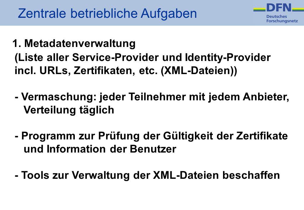 Zentrale betriebliche Aufgaben 1.