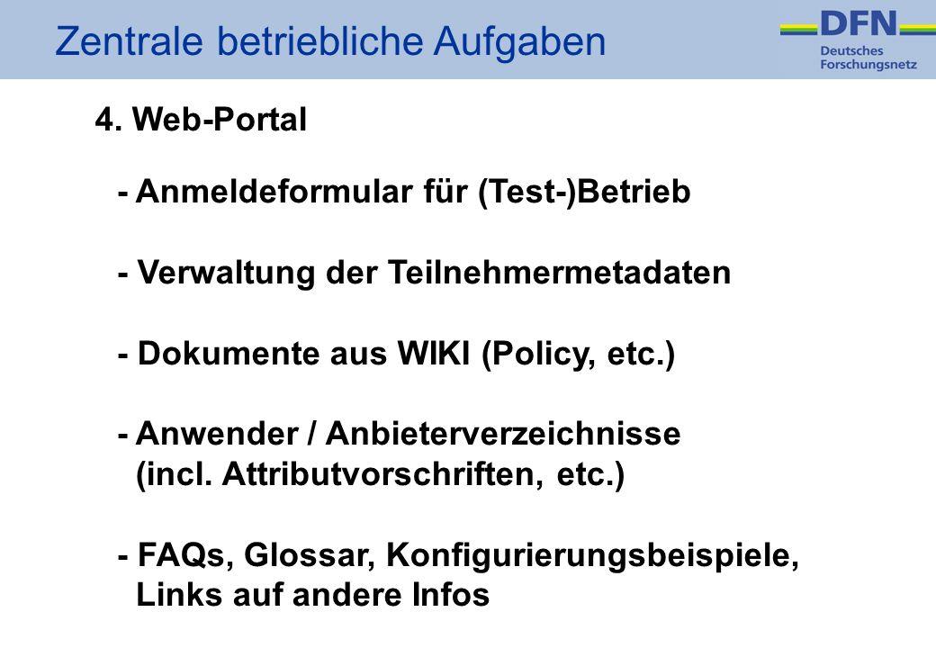 Zentrale betriebliche Aufgaben 4.