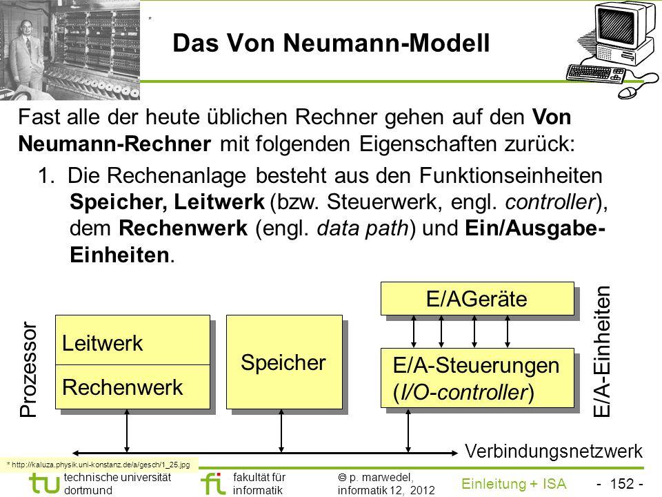 - 151 - technische universität dortmund fakultät für informatik p. marwedel, informatik 12, 2012 Einleitung + ISA TU Dortmund Wiedereintrittsfähiger C