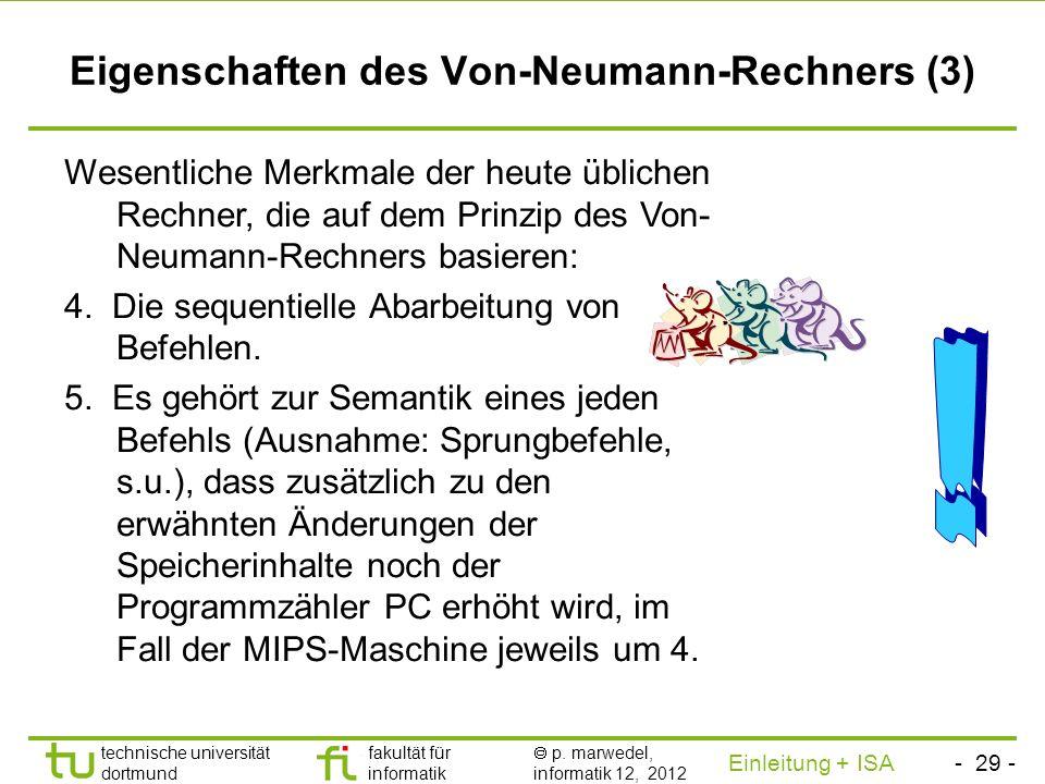 - 28 - technische universität dortmund fakultät für informatik p. marwedel, informatik 12, 2012 Einleitung + ISA TU Dortmund Der Zeiger auf den gerade