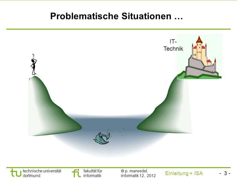 - 2 - technische universität dortmund fakultät für informatik p. marwedel, informatik 12, 2012 Einleitung + ISA TU Dortmund Motivation Jede Ausführung