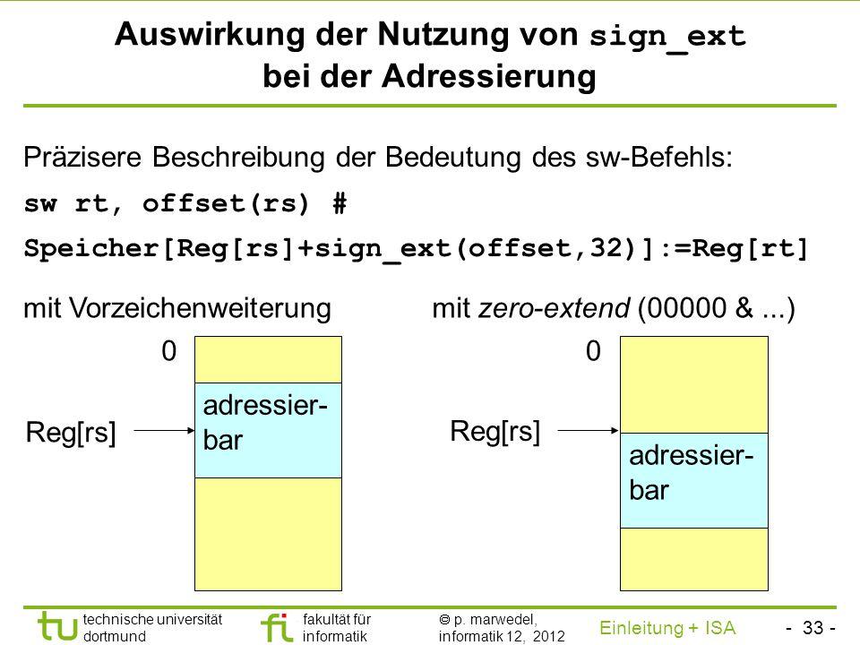 - 32 - technische universität dortmund fakultät für informatik p. marwedel, informatik 12, 2012 Einleitung + ISA TU Dortmund Beweis der Korrektheit vo