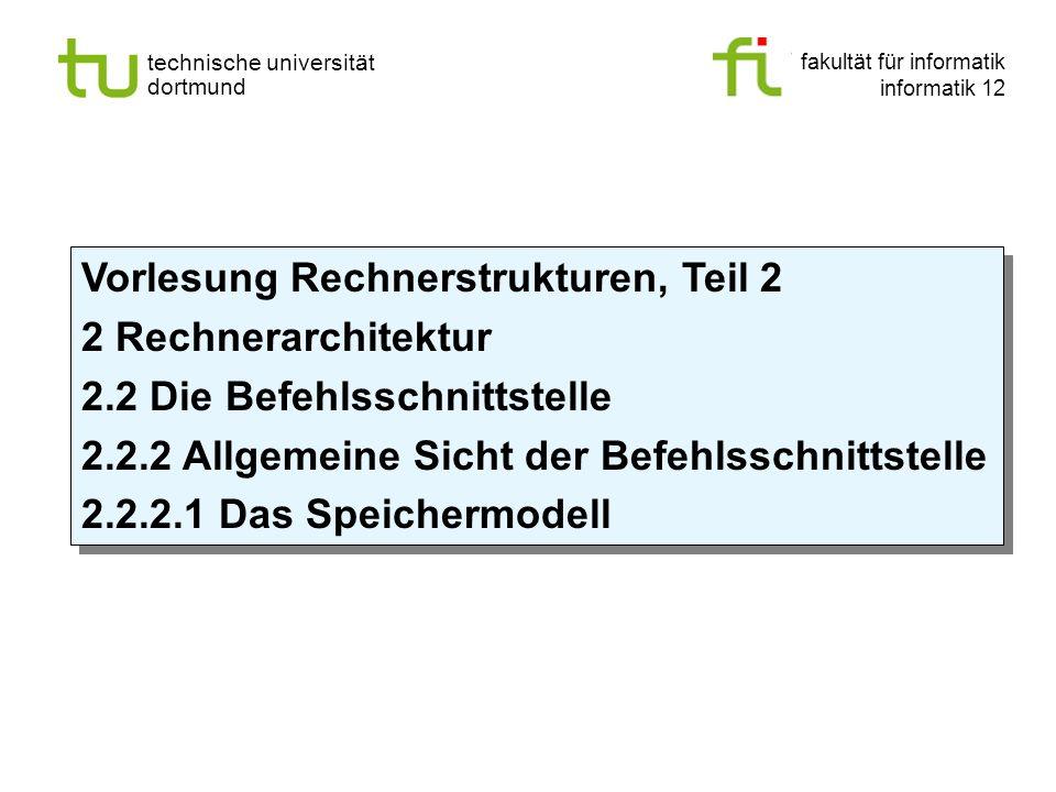 - 90 - technische universität dortmund fakultät für informatik p. marwedel, informatik 12, 2012 Einleitung + ISA TU Dortmund 2.2.2 Allgemeine Sicht de