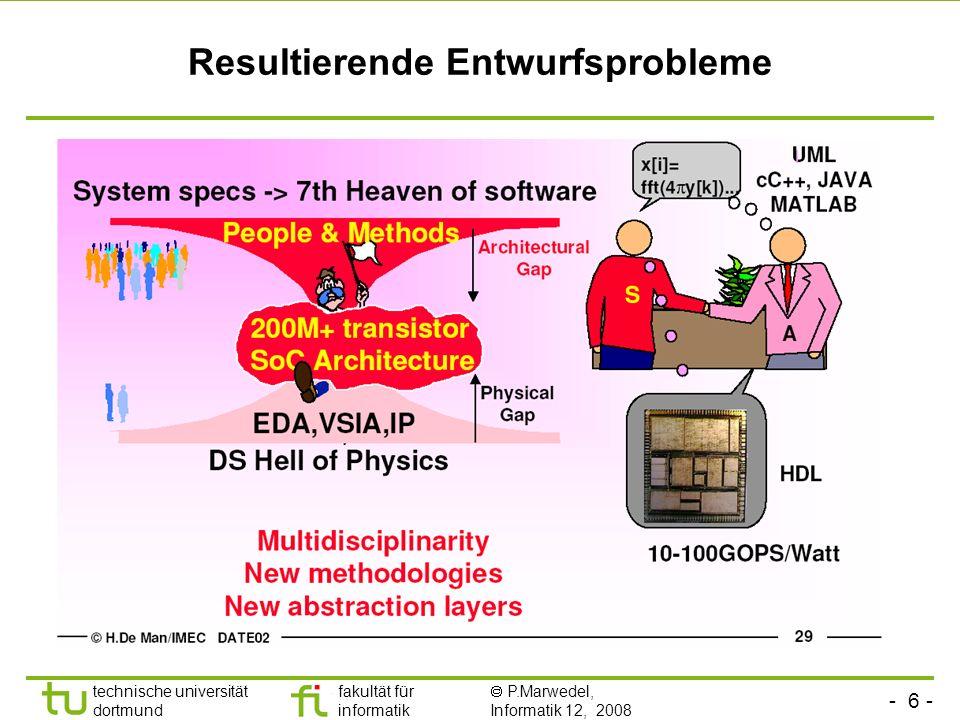 - 27 - technische universität dortmund fakultät für informatik P.Marwedel, Informatik 12, 2008 Prüfungen Mündliche Prüfungen für alle Leistungspunkte: 9 ECTS-Punkte bei bestandener Prüf.