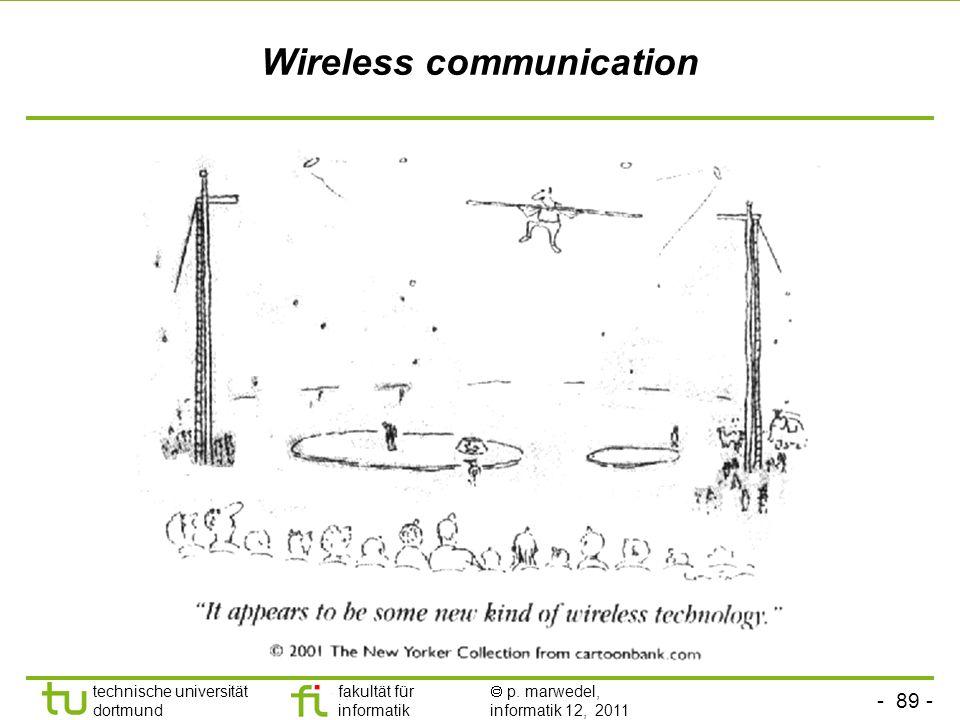 - 88 - technische universität dortmund fakultät für informatik p. marwedel, informatik 12, 2011 Eigenschaften von Token-Ring-Netzen Vorteile Auch bei