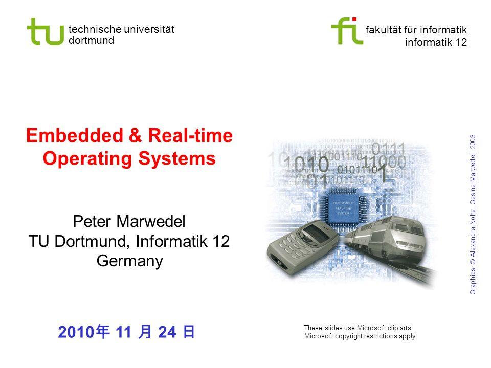 fakultät für informatik informatik 12 technische universität dortmund Universität Dortmund Embedded & Real-time Operating Systems Peter Marwedel TU Do