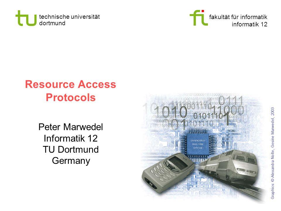 fakultät für informatik informatik 12 technische universität dortmund Universität Dortmund Resource Access Protocols Peter Marwedel Informatik 12 TU D