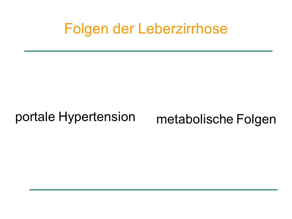 Folgen der Leberzirrhose Leberzirrhose portale Hypertension metabolische Folgen