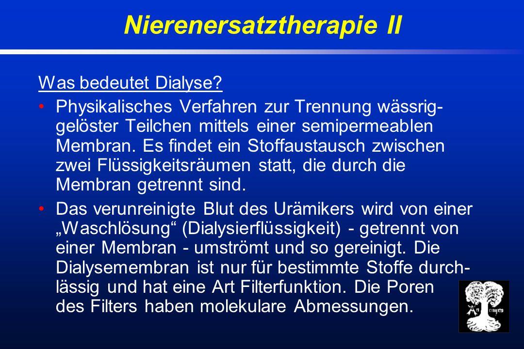 Was bedeutet Dialyse.