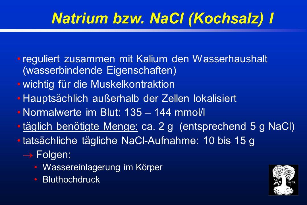 Natrium bzw.