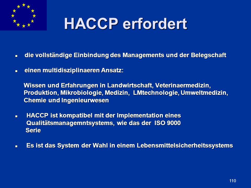 ENLARGEMENT DG 110 HACCP erfordert die vollständige Einbindung des Managements und der Belegschaft die vollständige Einbindung des Managements und der