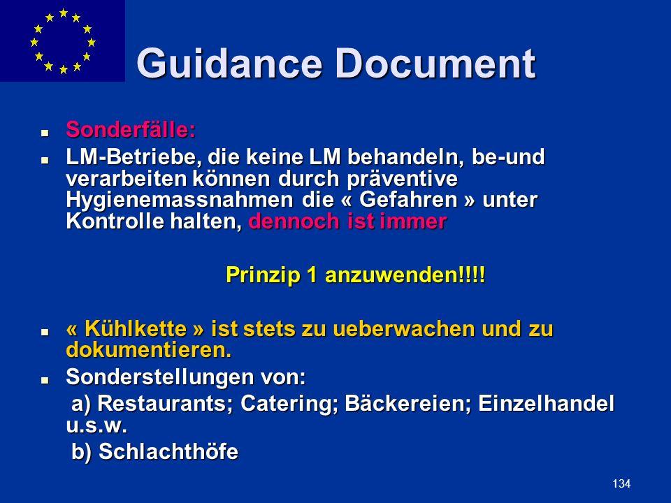ENLARGEMENT DG 134 Guidance Document Sonderfälle: Sonderfälle: LM-Betriebe, die keine LM behandeln, be-und verarbeiten können durch präventive Hygiene