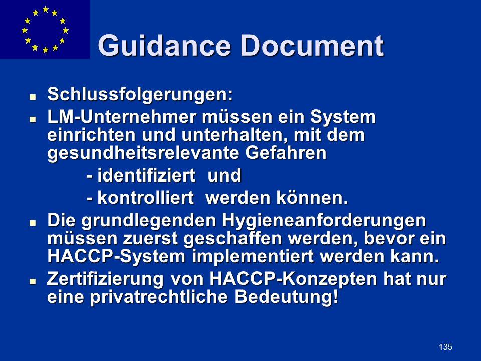 ENLARGEMENT DG 135 Guidance Document Schlussfolgerungen: Schlussfolgerungen: LM-Unternehmer müssen ein System einrichten und unterhalten, mit dem gesu