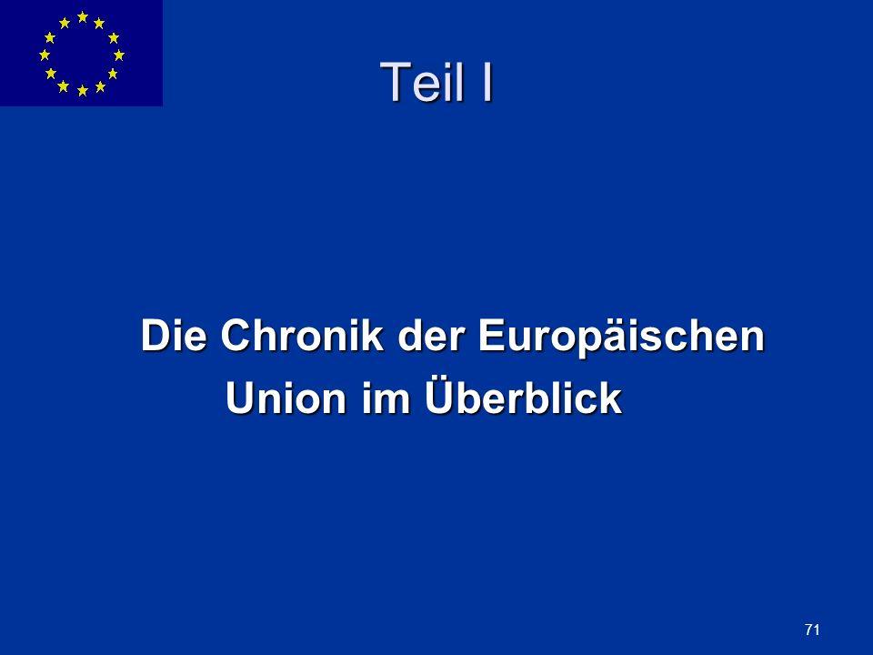 ENLARGEMENT DG 71 Teil I Die Chronik der Europäischen Union im Überblick Union im Überblick