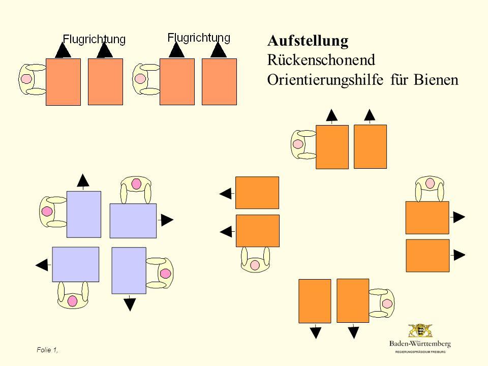Folie 1, Aufstellung Rückenschonend Orientierungshilfe für Bienen