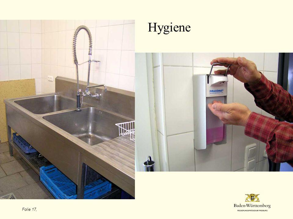 Folie 17, Hygiene