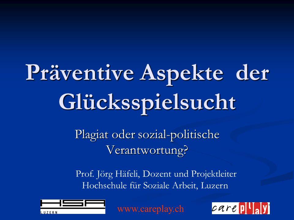 Präventive Aspekte der Glücksspielsucht Plagiat oder sozial-politische Verantwortung.