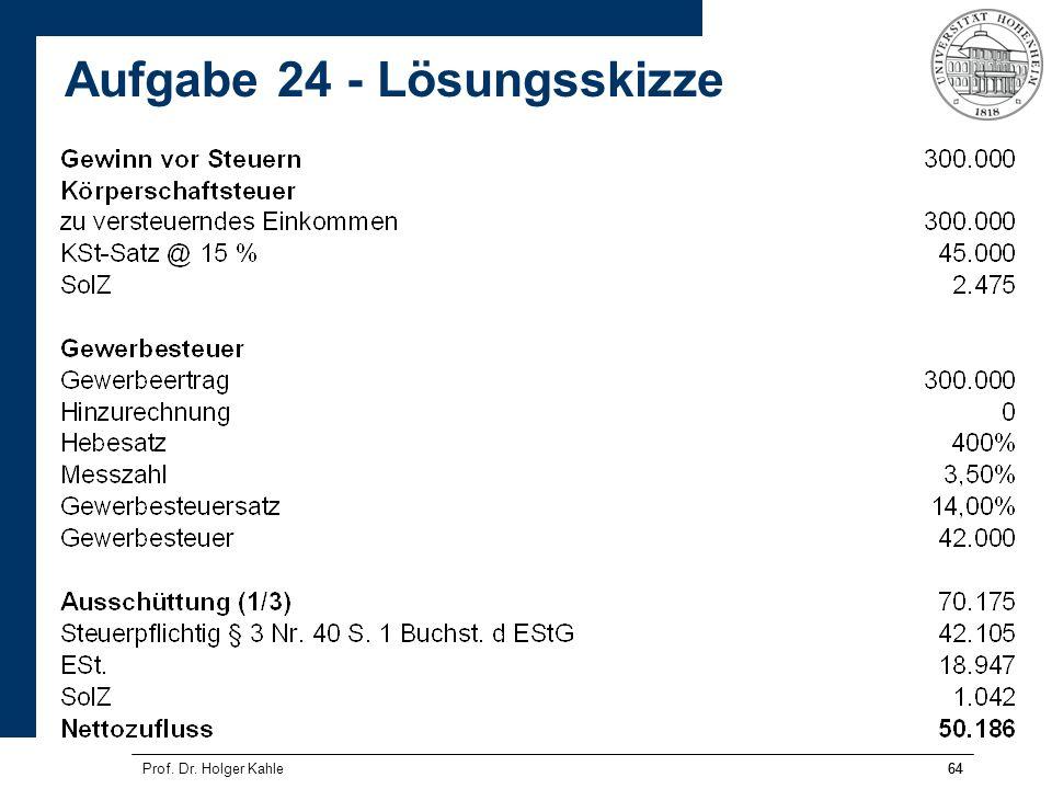 64 Aufgabe 24 - Lösungsskizze Prof. Dr. Holger Kahle