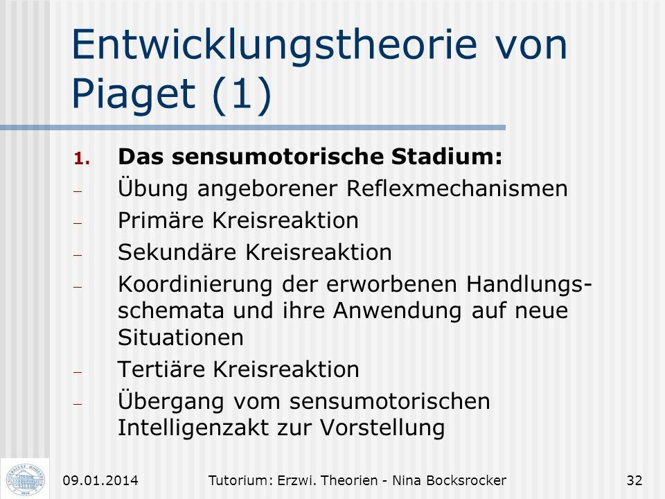 Tutorium: Erzwi. Theorien - Nina Bocksrocker3109.01.2014 Berufsausbildungserfolg (9) Einflussfaktoren auf den Berufsausbildungs- erfolg (nach JUNGKUNZ
