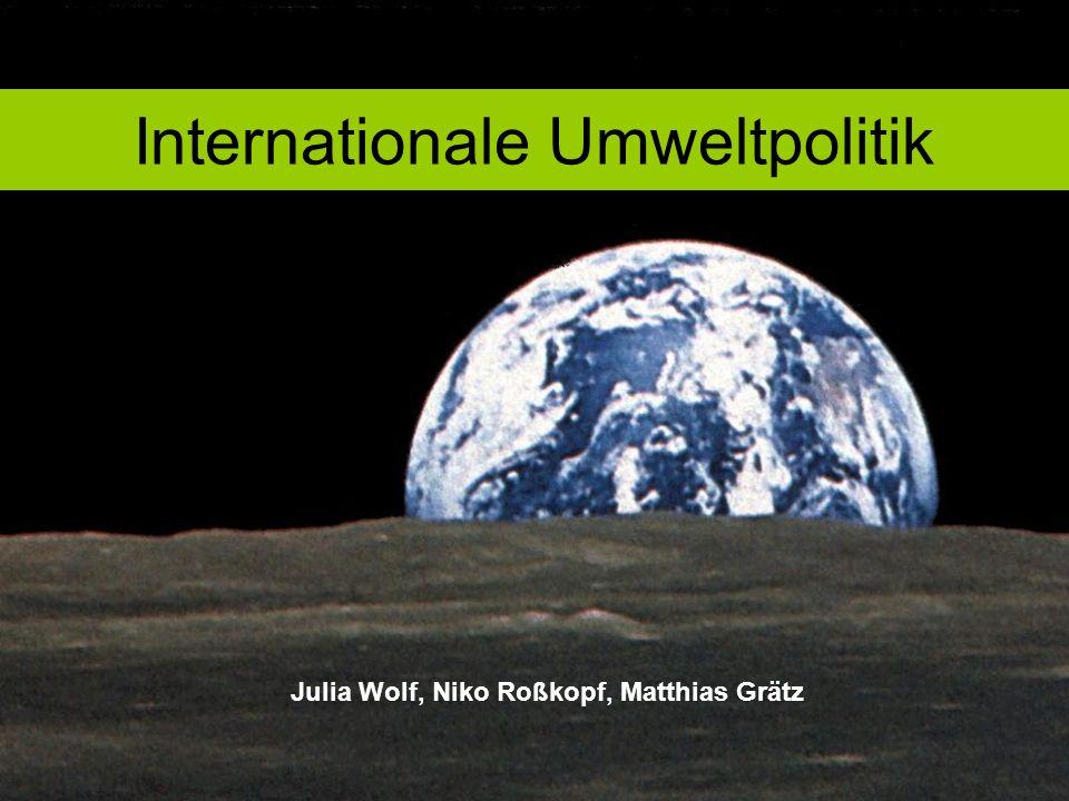 Internationale Umweltpolitik Julia Wolf, Niko Roßkopf, Matthias Grätz