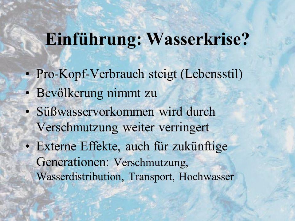 Einführung: Wasserkrise.