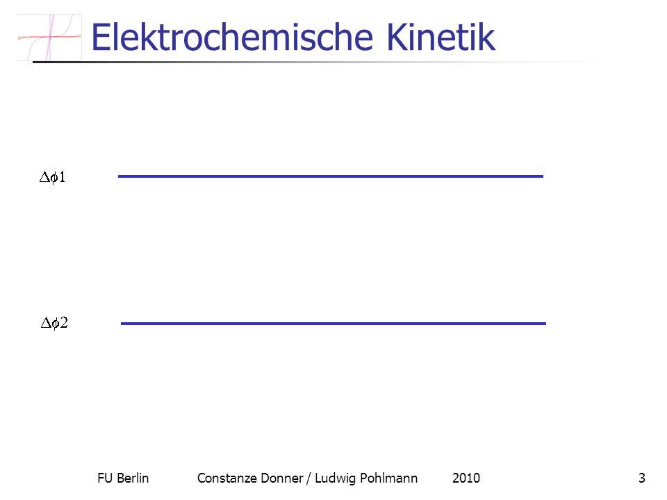 FU Berlin Constanze Donner / Ludwig Pohlmann 20103 Elektrochemische Kinetik
